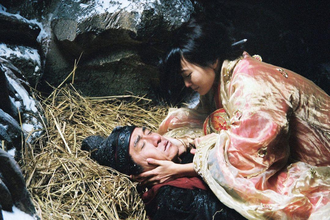 Eine Liebe ohne Zukunft: General Meng Yi (Jackie Chan, l.) und die koreanische Prinzessin Ok-soo (Hee-seon Kim, r.) ... - Bildquelle: Splendid