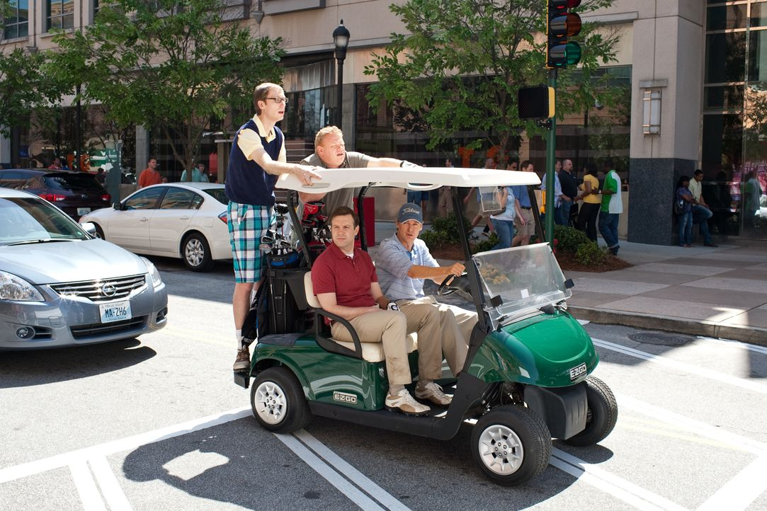 (v.l.n.r.) Gary (Stephen Merchant); Hog-Head (Larry Joe Campbell); Fred (Jason Sudeikis); Rick (Owen Wilson) - Bildquelle: Warner Bros.