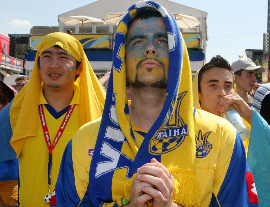 Fußball-Fan-Ukraine-060614-dpa - Bildquelle: dpa