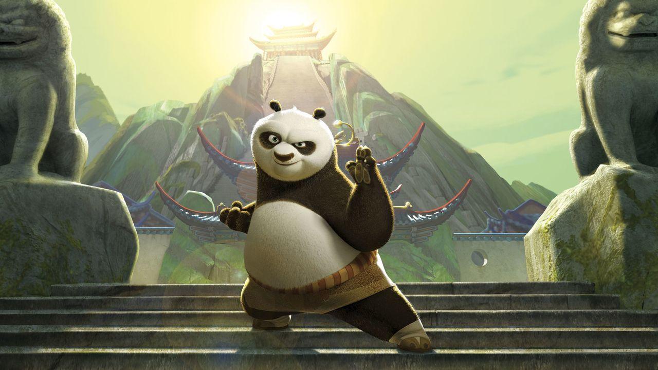 Nach dem erfolgreichen Abschluss seines Trainings erhält Po die legendäre Drachenrolle, die das wichtigste Geheimnis der Krieger enthalten soll ... - Bildquelle: Paramount Pictures