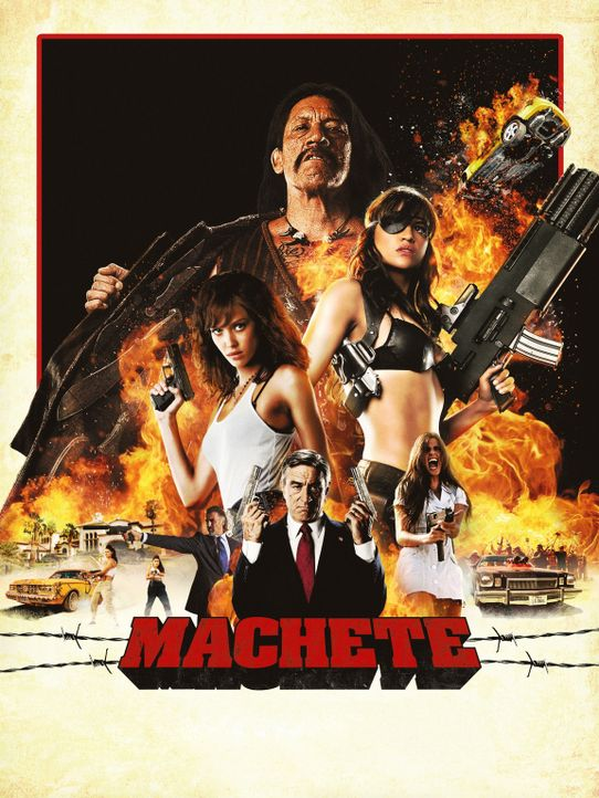 MACHETE - Plakatmotiv - Bildquelle: 2010 Machete's Chop Shop, Inc. All Rights Reserved.