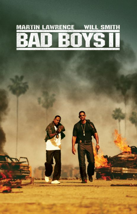 Bad Boys ll: Die beiden Drogenfahnder Mike Lowrey (Will Smith, r.) und Marcus Burnett (Martin Lawrence, l.) jagen den kubanischen Ecstasy-Baron Hect... - Bildquelle: 2004 Sony Pictures Television International. All Rights reserved.