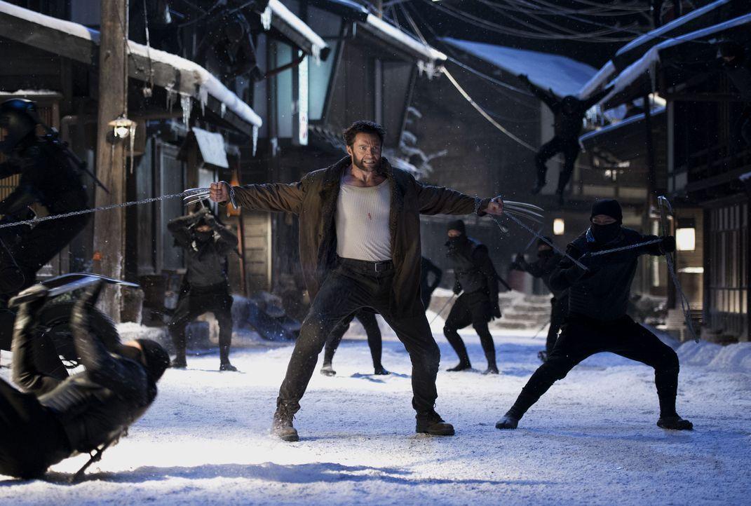 Ahnt noch nicht, dass seine Kräfte massiv angezapft wurden: Wolverine (Hugh Jackman) ... - Bildquelle: Ben Rothstein 2013 Twentieth Century Fox Film Corporation. All rights reserved. / Ben Rothstein