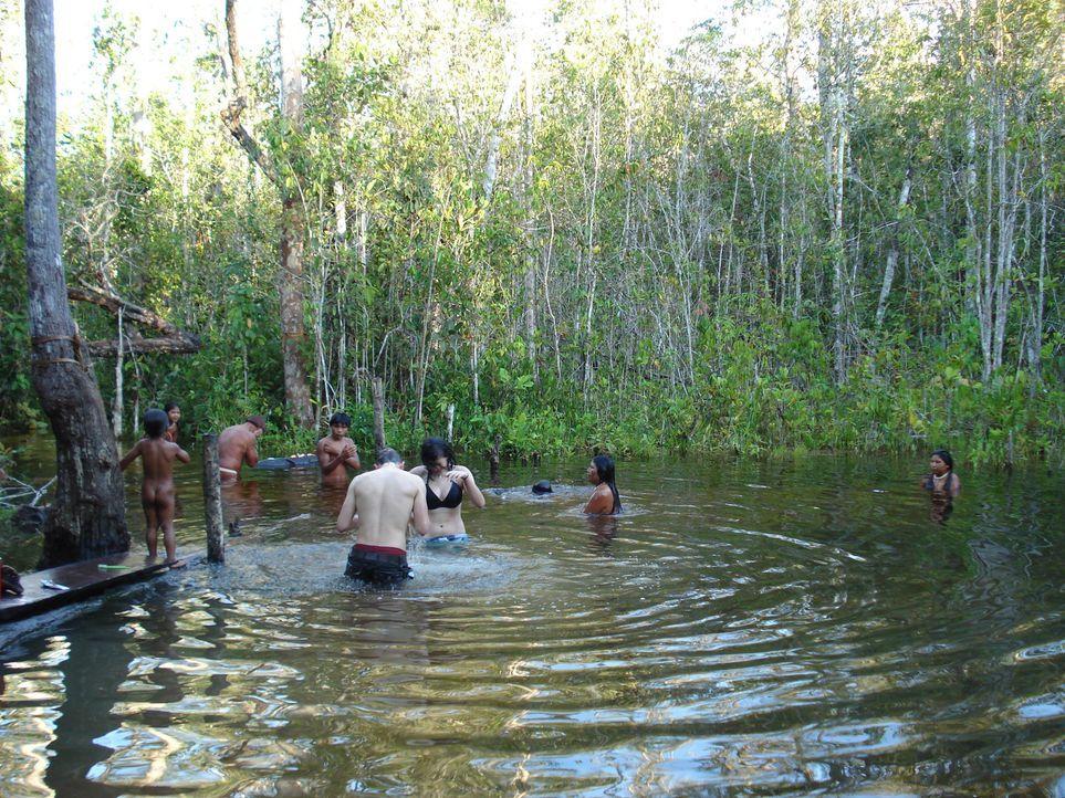 Eine der ursprünglichsten, unberührtesten Regionen der Erde: das Xingu-Delta im brasilianischen Regenwald. Dort sollen die Terror-Teenies Florian... - Bildquelle: kabel eins