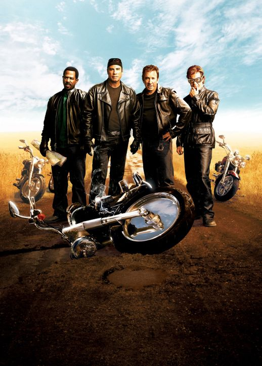 Born to be Wild - saumäßig unterwegs: Woody (John Travolta, 2.v.l.), Dudley (William H. Macy, r.), Doug (Tim Allen, 2.v.r.) und Bobby (Martin Lawren... - Bildquelle: Touchstone Pictures.  All rights reserved