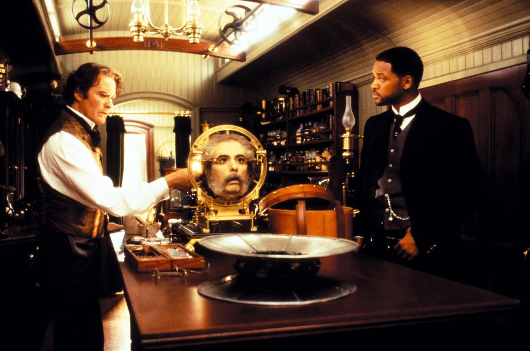 Der diabolische Dr. Loveless plant ein Attentat auf den Präsidenten. In der Not wendet sich der Präsident an seine beiden besten Agenten, Jim West (... - Bildquelle: Warner Bros. Pictures