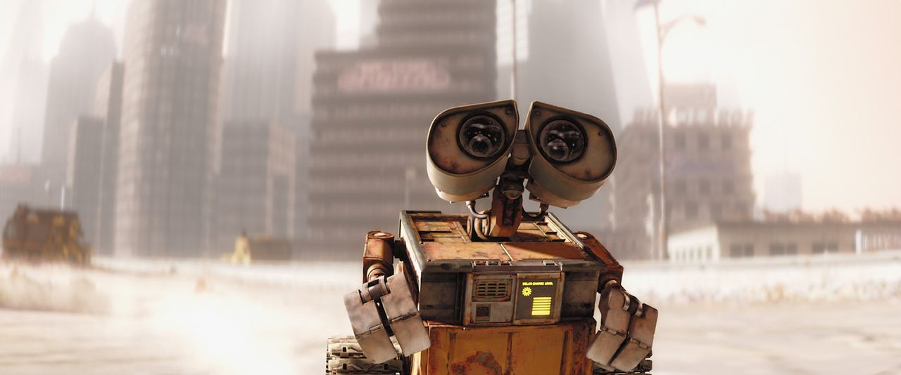 Wall-E wurde durch den Versuch, den Holodetector zu deaktivieren, beschädigt. Nun liegt es an EVE, Ersatzteile zu finden, damit man den liebenswert... - Bildquelle: Touchstone Pictures