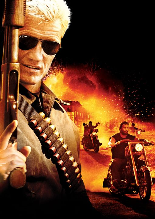 Mit blond gefärbtem Haar und festem Willen stellt sich Ryder (Dolph Lundgren) gegen den lokalen Gangsterboss Reno. Dieser soll seinen Freund getötet... - Bildquelle: 2008 CPT Holdings, Inc. All Rights Reserved. (Sony Pictures Television International)