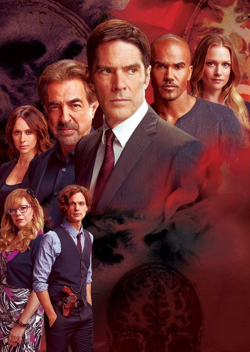 (10. Staffel) - Criminal Minds: Reid (Matthew Gray Gubler, vorne r.), Derek (Shemar Moore, 2.v.r.), Hotch (Thomas Gibson, M.), Rossi (Joe Mantegna,... - Bildquelle: ABC Studios