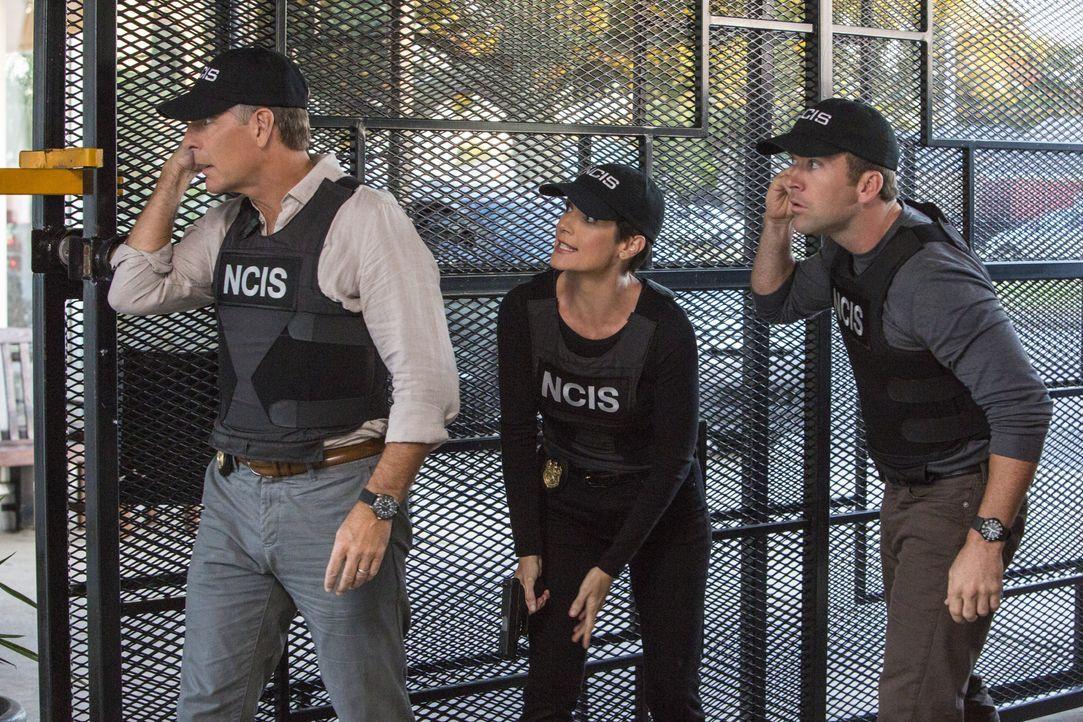 Ein neuer Fall erwartet Pride (Scott Bakula, l.), Brody (Zoe McLellan, M.) und Lasalle (Lucas Black, r.) ... - Bildquelle: 2014 CBS Broadcasting Inc. All Rights Reserved.