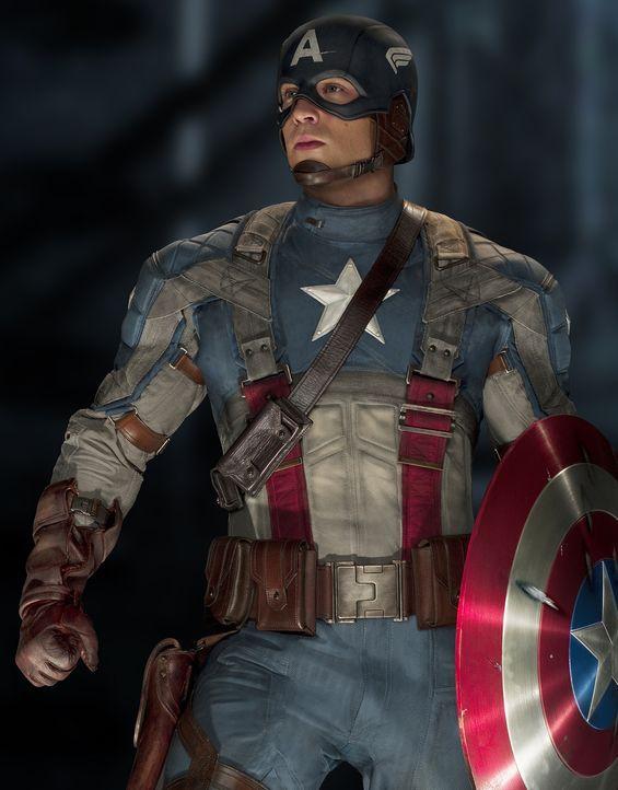 Kaum ist er der neue Kriegsheld, da steht auch schon Captain America (Chris Evans) die bisher größte Prüfung seines Lebens bevor: Der Kampf gegen Na... - Bildquelle: TM &   2011 Marvel Entertainment, LLC & subs. All Rights Reserved.