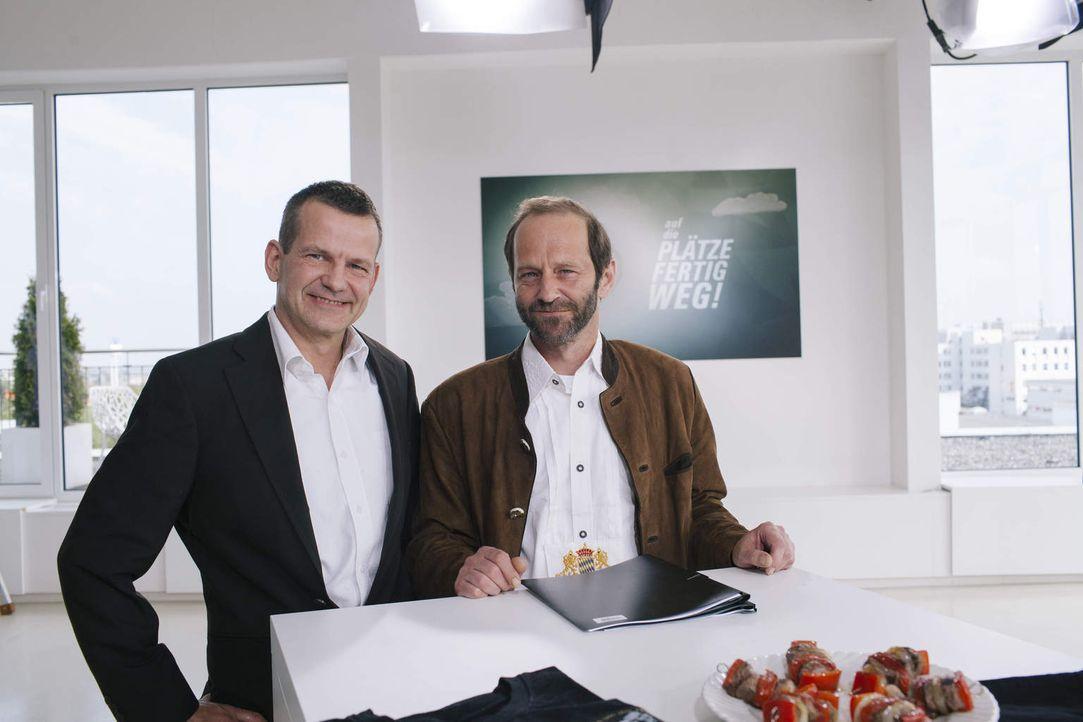 Kämpfen um das begehrte Startkapital von 25.000 Euro für ihren Traum von einer Imbissbude auf Mallorca: Gastro (l.) und Robert (r.) ... - Bildquelle: Stefan Hobmaier kabel eins