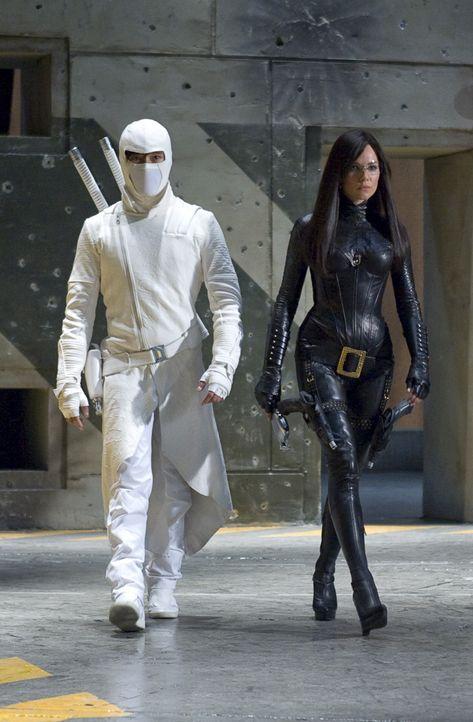 """Haben die Geheimorganisation Cobra zu einem blutigen Verein gemacht: Ninja Meister Storm Shadow (Byung-hun Lee, l.) und die """"Baroness"""" (Sienna Mille... - Bildquelle: 2009 Paramount Pictures Corporation. All Rights Reserved."""