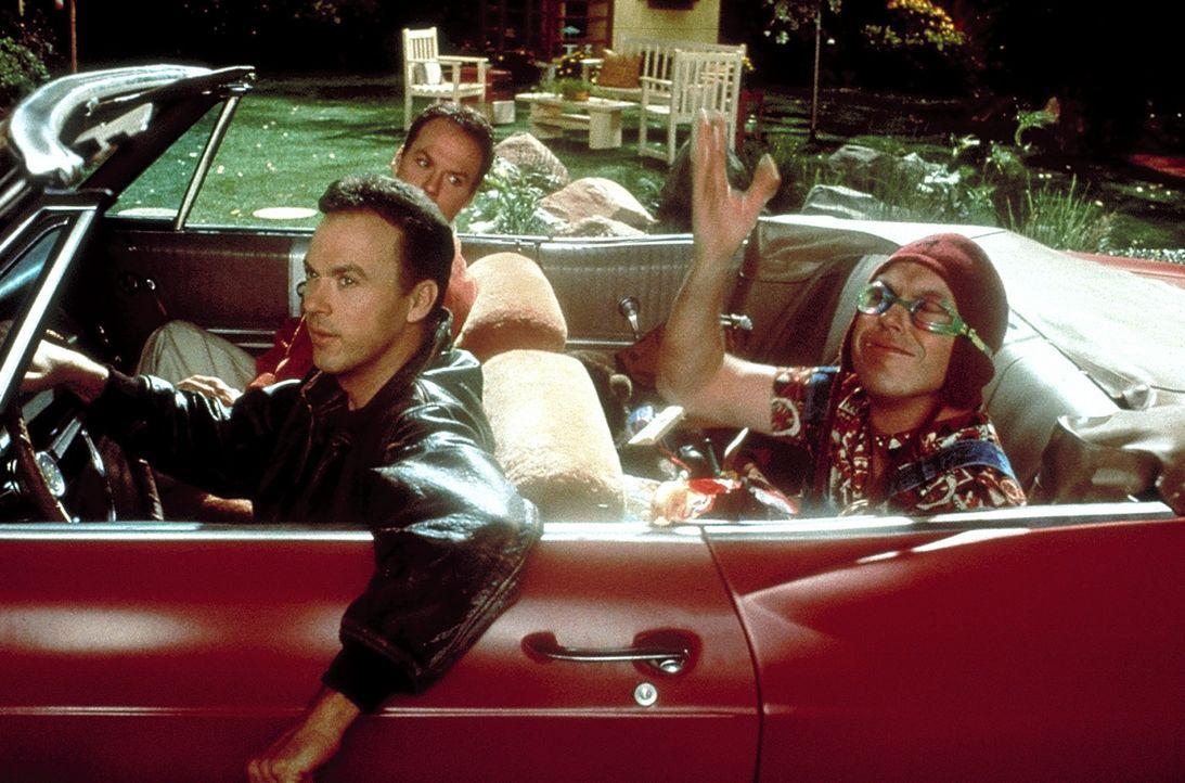 Dougs Klone machen sich selbstständig: Klon 1 (Michael Keaton, vorne l.), Klon 2 (Michael Keaton, hinten) und Klon 3 (Michael Keaton, vorne r.) gö... - Bildquelle: Columbia TriStar
