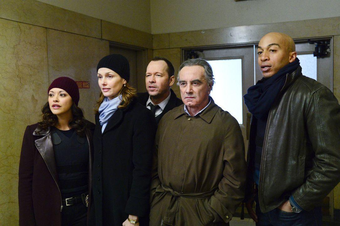 Mit Hilfe von Danny (Donnie Wahlberg, M.) und Baez (Marisa Ramirez, l.), hat Erin (Bridget Moynahan, 2.v.l.) es geschafft, den unter Zeugenschutz st... - Bildquelle: John Paul Filo 2014 CBS Broadcasting Inc. All Rights Reserved.