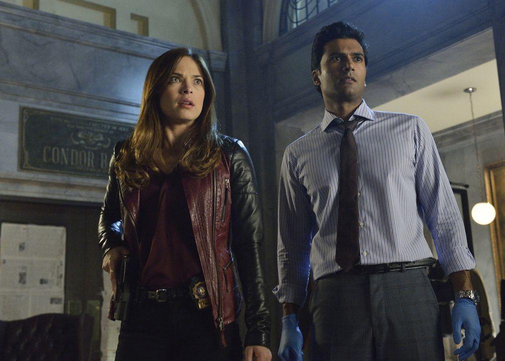 Werden von Vince auf die Spur von Windsor gebracht: Gabe (Sendhil Ramamurthy, r.) und Cat (Kristin Kreuk, l.) ... - Bildquelle: 2013 The CW Network, LLC. All rights reserved.