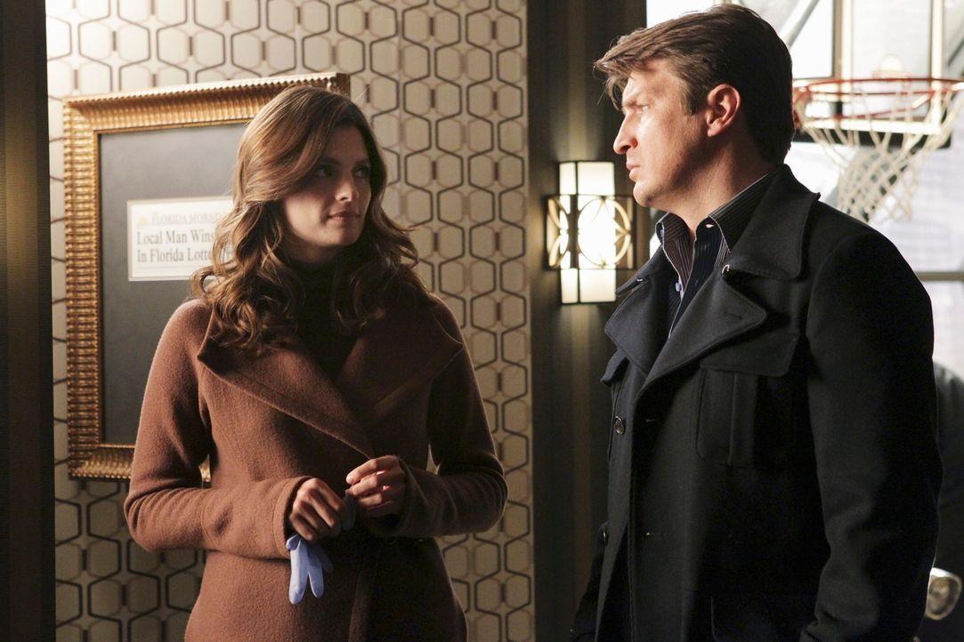 Ermitteln mal wieder gemeinsam in einem Fall: Kate Beckett (Stana Katic, l.) und Richard Castle (Nathan Fillion, r.) - Bildquelle: ABC Studios