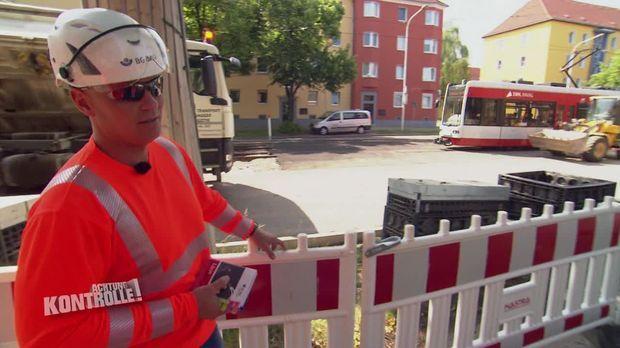 Achtung Kontrolle - Achtung Kontrolle! - Thema U.a.: Baustellenkontrolle In Halle - Extreme Arbeitssicherheitsmängel
