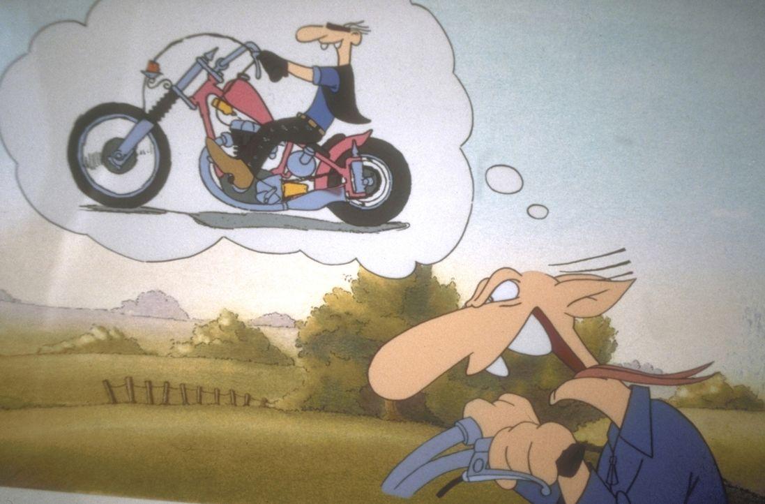 Chaot Werner verlangt vom Leben wirklich nicht viel: Er will lediglich in Ruhe ein Bierchen Marke Bölkstoff trinken und seine Chopper fahren ... - Bildquelle: Constantin Film