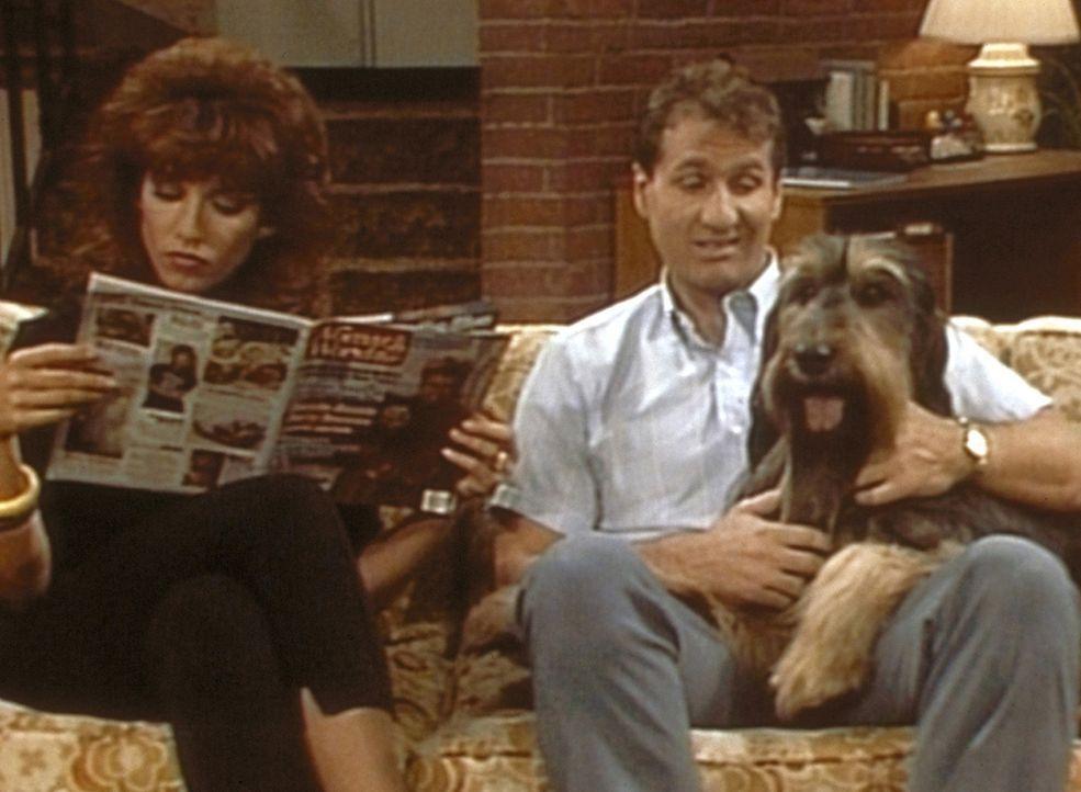 Während Peggy (Katey Sagal, l.) verlangt, dass Hund Buck kastriert wird, lehnt Al (Ed O'Neill, r.) den Eingriff aus Solidarität mit seinem Geschle... - Bildquelle: Columbia Pictures