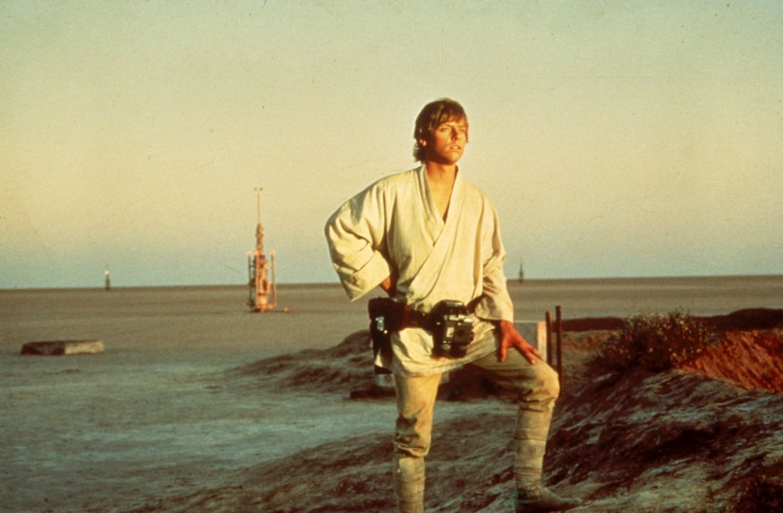 Weil sein Onkel und seine Tante vom Imperium getötet wurden, macht sich Luke Skywalker (Mark Hamill, r.) auf den Weg nach Alderaan ... - Bildquelle: 1997 Lucasfilm Ltd. All rights reserved.