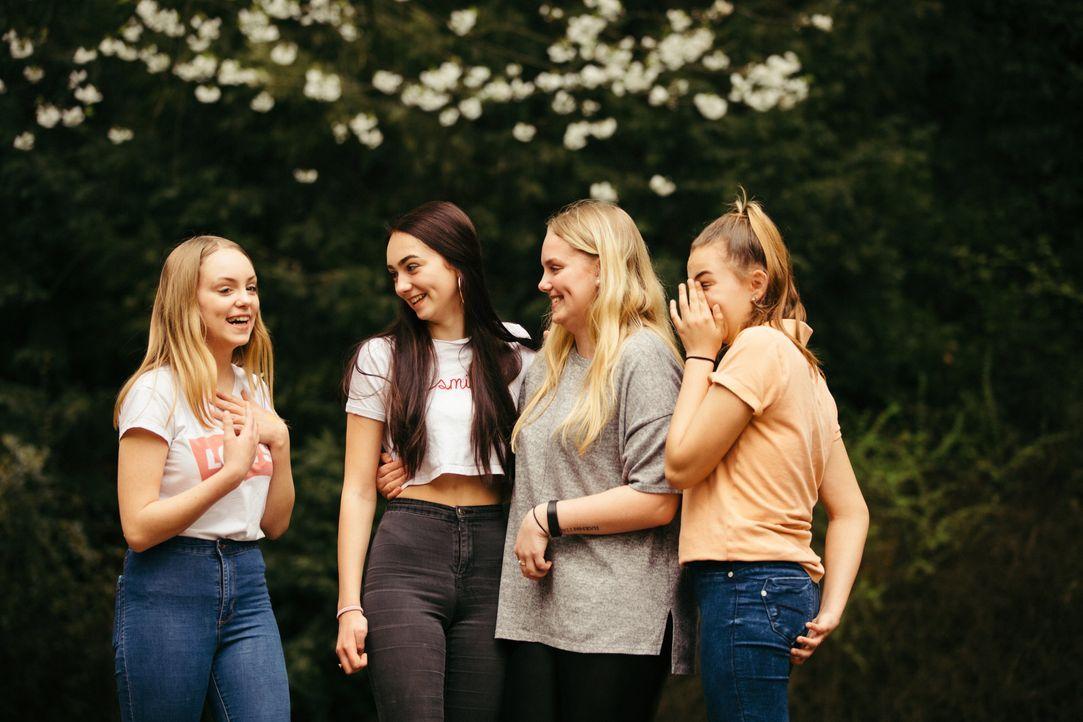 (v.l.n.r.) Nele; Elena; Melissa; Angelina - Bildquelle: Arya Shirazi Kabel Eins / Arya Shirazi
