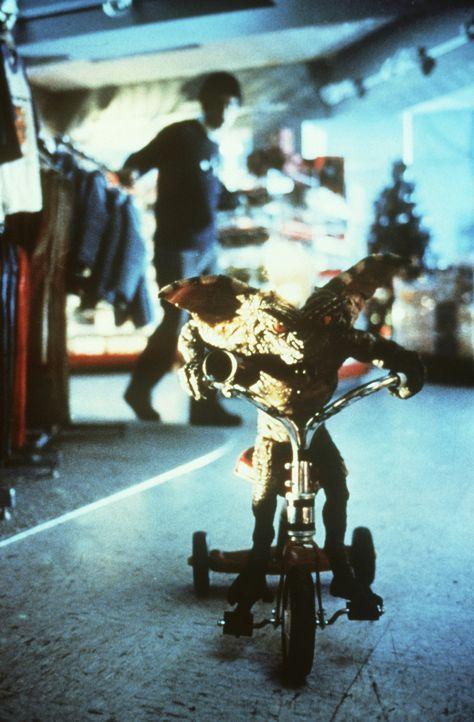 Mit einer ungeheuren Energie stürzen sich die hässlichen Gremlins auf alles, um es zu zerstören, und nur Billy und Rand können sie noch aufhalten ..... - Bildquelle: Warner Bros.