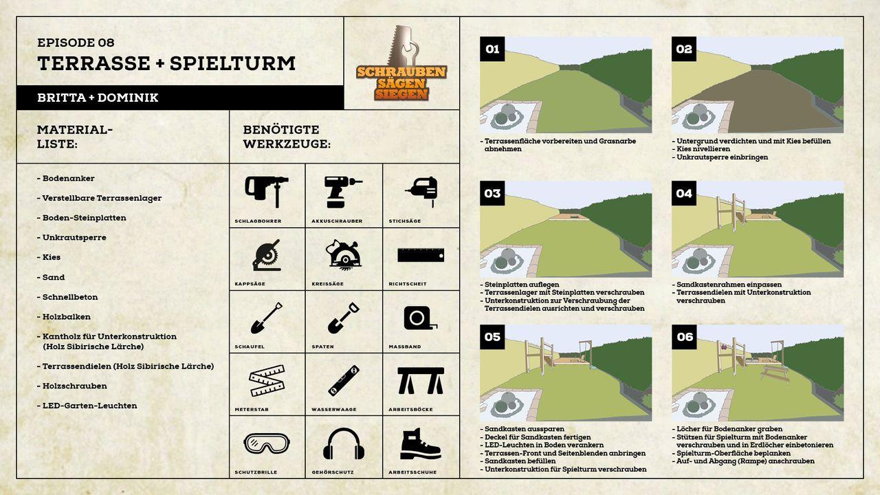 Projekt Terrasse und Spielturm Britta und Dominik - Bildquelle: Kabel Eins