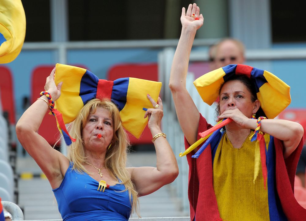 Die kolumbianischen Fans - 5 - Bildquelle: dpa