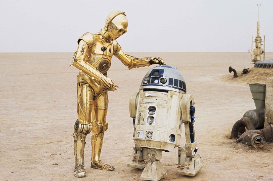 Stehen Luke und Han Solo im Kampf gegen das Imperium immer zur Seite: Druide C-3PO (Anthony Daniels, l.) und R2-D2 (Kenny Baker, r.) ... - Bildquelle: 1997 Lucasfilm Ltd. All rights reserved.