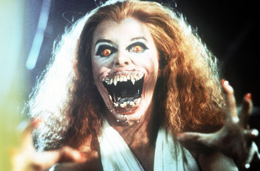 Amy (Amanda Bearse) hat es voll erwischt - so langsam aber sicher verwandelt sie sich in einen Vampir ... - Bildquelle: Columbia Pictures