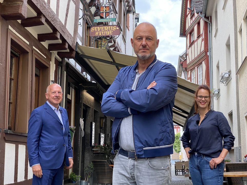 (v.l.n.r.)Thomas Hirschberger, Frank Rosin, Eva-Miriam Gerstner - Bildquelle: Kabel Eins