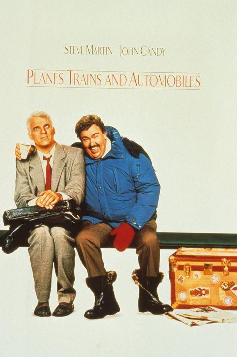 """Filmplakat zu """"Ein Ticket für zwei"""": Steve Martin (l.) und John Candy (r.) als das unwahrscheinliche Duo Neal Page und Del Griffith - Bildquelle: Paramount Pictures"""