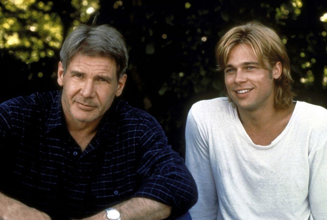 Mit einer falschen Identität erschleicht sich Francis McGuire (Brad Pitt, r.) hinterhältig das Vertrauen des nichts ahnenden New Yorker Polizisten... - Bildquelle: Columbia TriStar