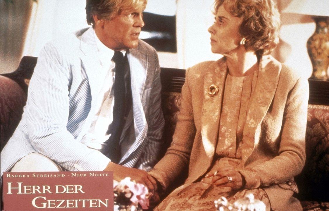 Tom Wingo (Nick Nolte, l.) und seine Mutter (Kate Nelligan, r.) verbindet ein lange zurückliegendes, schreckliches Ereignis. Aber im Gegensatz zu s... - Bildquelle: Columbia Pictures