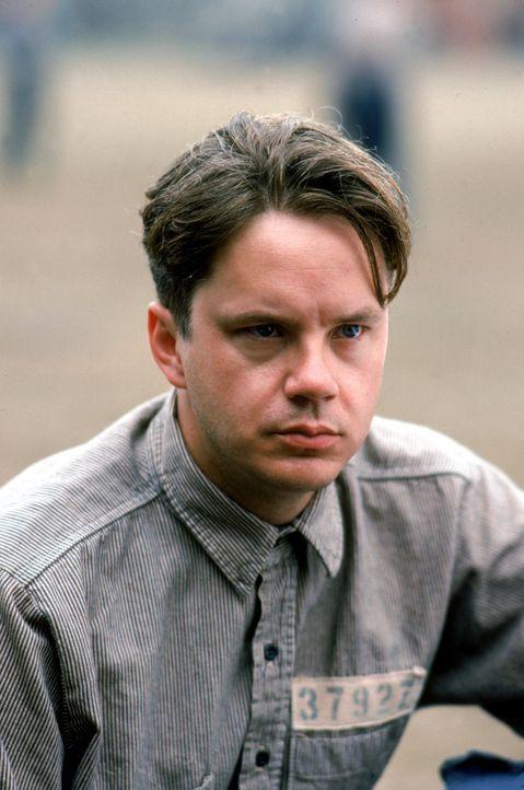 Wegen Doppelmordes an seiner Ehefrau und deren Liebhaber wird der Bankdirektor Andy Dufresne (Tim Robbins) zu 'zweimal lebenslänglich' verurteilt ... - Bildquelle: 1994 Warner Bros. Entertainment Inc. All Rights Reserved.