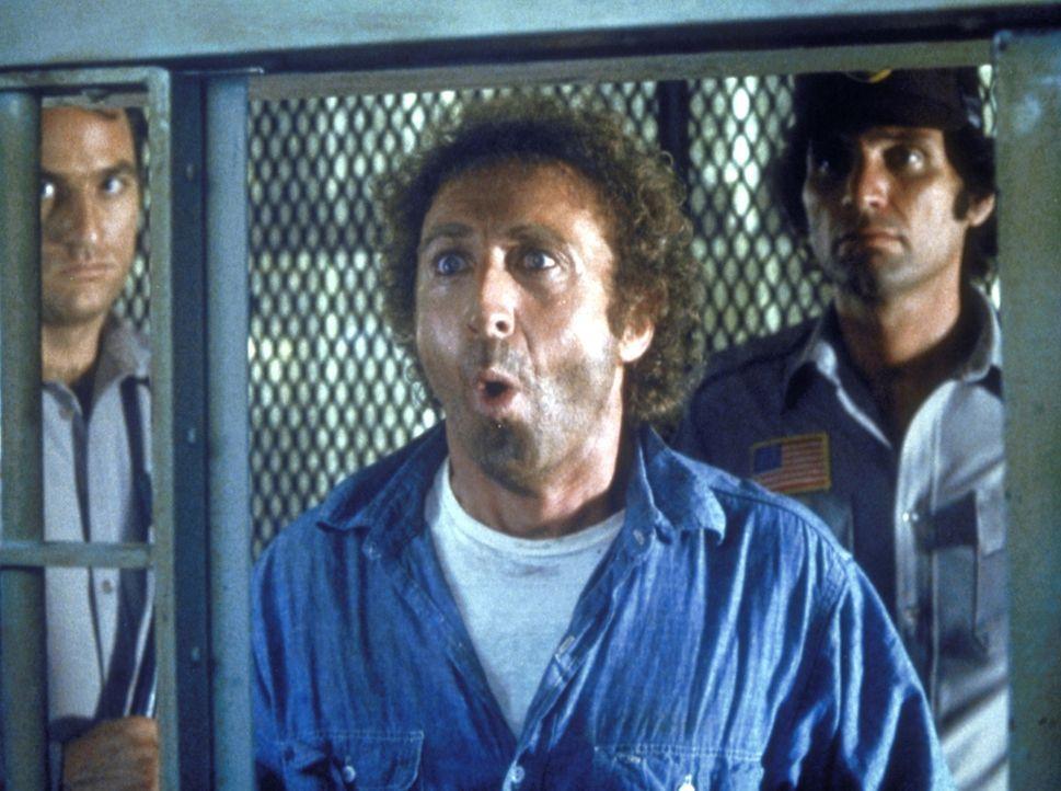 Der Alltag im Gefängnis ist kein Honigschlecken: Skip (Gene Wilder, M.) und sein Freund Harry sitzen mit allerhand gefährlichen Verbrechern in ein... - Bildquelle: Columbia Pictures Corporation