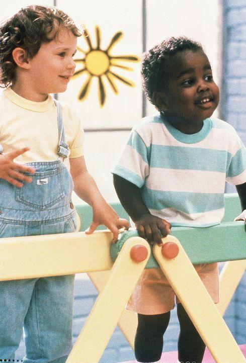 Der kleine Mikey (Lorne Sussman, l.) und sein Kindergarten-Kollege Eddie (Damon Wayans, r.) sind dicke Freunde: Und Eddie gibt Mikey ein paar gute R... - Bildquelle: TriStar Pictures