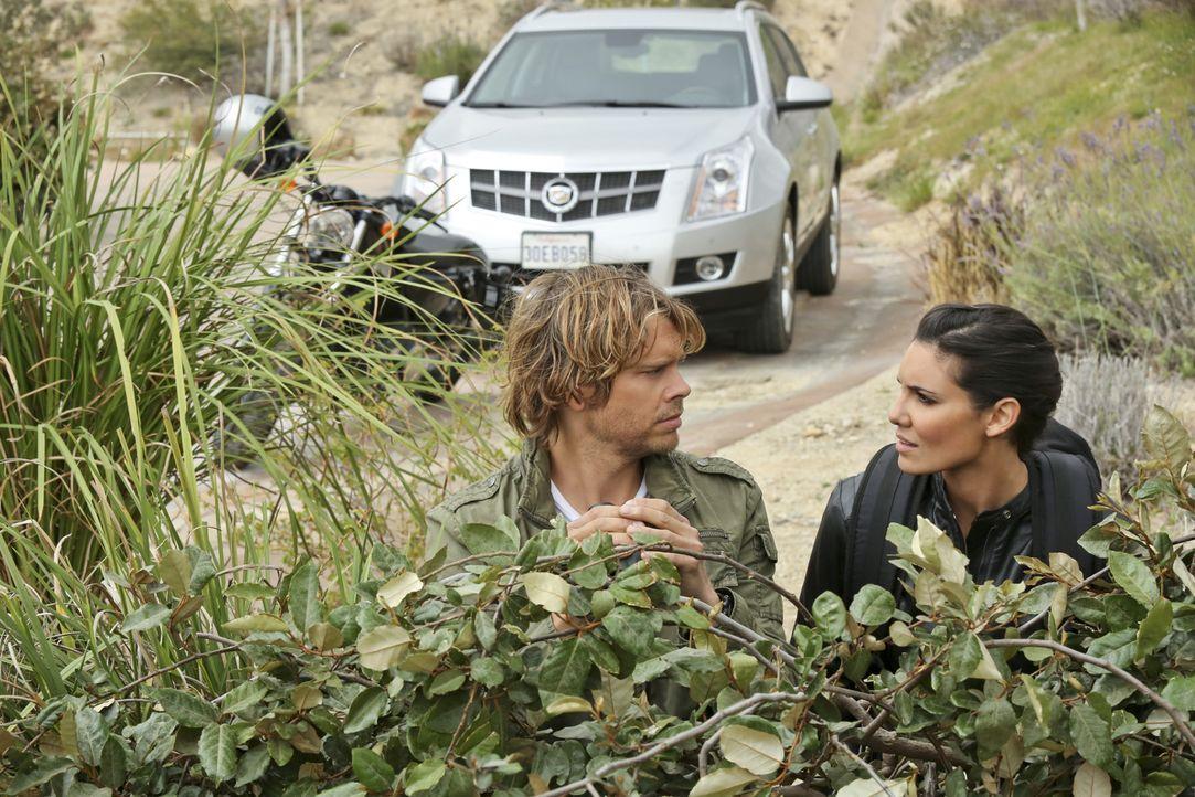 Ermitteln in einem neuen Fall: Deeks (Eric Christian Olsen, l.) und Kensi (Daniela Ruah, r.) ... - Bildquelle: CBS Studios Inc. All Rights Reserved.