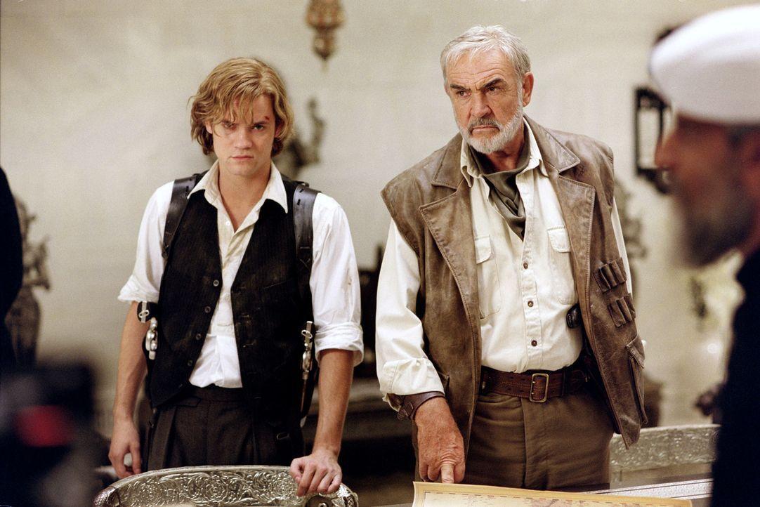 Sympathisches Duo: Der Lausbub Tom Sawyer (Shane West, l.) und der Abenteurer Allan Quatermain (Sean Connery, r.) sind Brüder im Geiste - und lassen... - Bildquelle: 20th Century Fox International