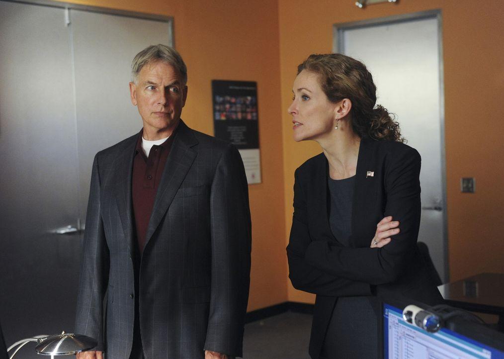 Was ist mit Gibbs (Mark Harmon, l.) und Sarah Porter (Leslie Hope, r.) los? - Bildquelle: CBS Television
