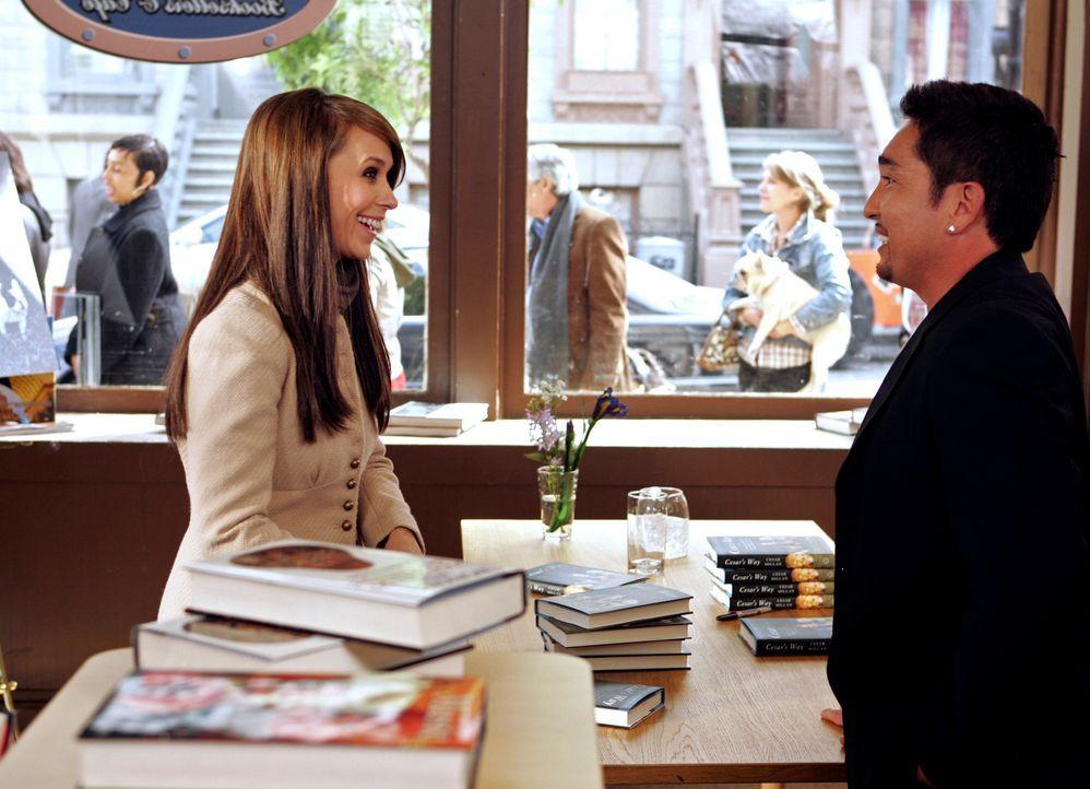 "Entdecken viele Gemeinsamkeiten: Melinda (Jennifer Love Hewitt, l.) und der berühmte ""Hundeflüsterer"" Cesar Millan (Cesar Millan, r.) … - Bildquelle: ABC Studios"