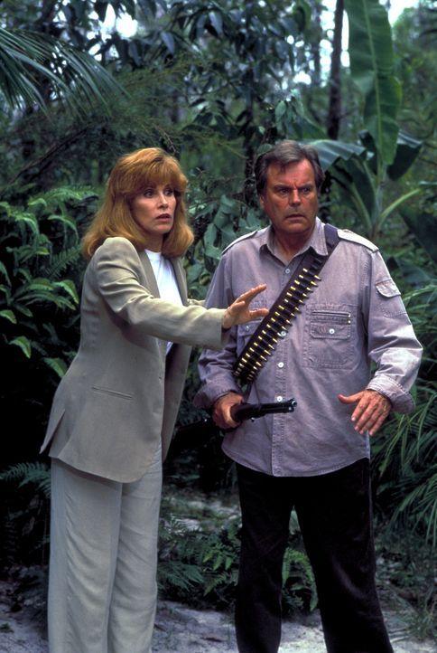 In Australien haben Jonathan (Robert Wagner, l.) und Jennifer (Stefanie Powers, r.) endlich einen passenden Ort für ihr Naturschutzgebiet gefunden -... - Bildquelle: Columbia Pictures
