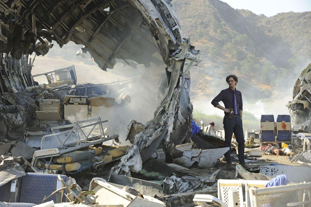 Muss in einem neuen Fall, der mit einem Flugzeugabsturz zu tun hat, ermitteln: Reid (Matthew Gray Gubler) ... - Bildquelle: Colleen Hayes 2014 American Broadcasting Companies, Inc. All rights reserved. / Colleen Hayes