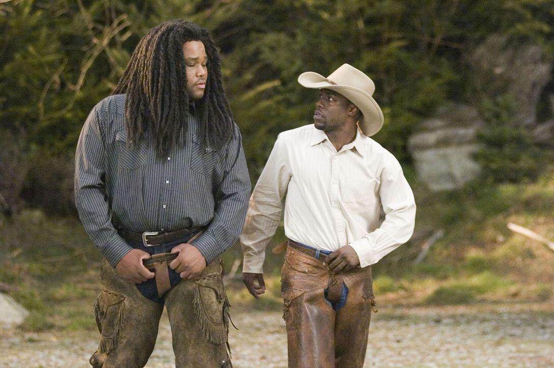 Oben in den bergen kommt es zu einem fatalen Missverständnis: CJ (Kevin Hart, r.) und Mahalik (Anthony Anderson, l.) ... - Bildquelle: The Weinstein Company. All Rights Reserved.