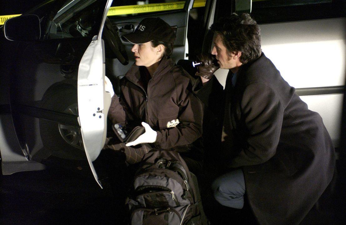 Bei der Klärung eines neuen Falles erhalten die Gibbs, Kate (Sasha Alexander, l.) und das restliche NCIS Team Unterstützung von Detektiv Montelone (... - Bildquelle: CBS Television