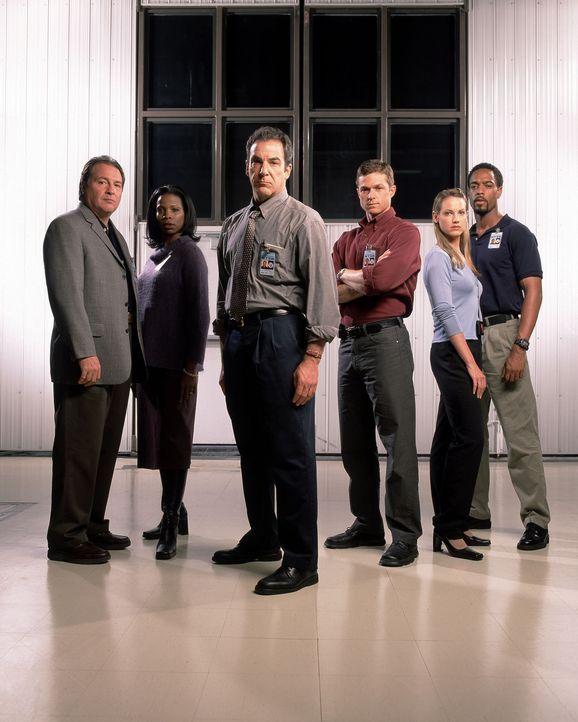 Ein tragisches Flugzeugunglück führt die Ermittler des NTSB, National Transportation Safety Board (v.l.n.r.: Dr. Cyrus Lebow (Kevin Dunn), Jessamy... - Bildquelle: Touchstone Television
