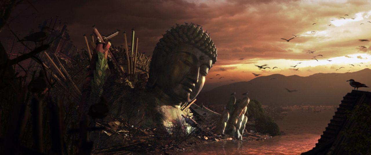 Japan versinkt im Meer. Die tektonische Platte, auf der die japanischen Inseln liegen, wird schon bald im Erdinnern versunken sein. Zunächst peinige...
