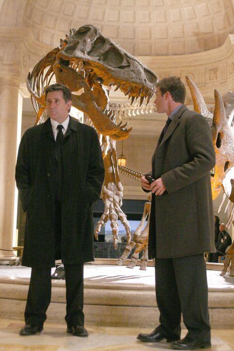 Nachdem Ian Norville verschwunden ist, machen sich Jack Malone (Anthony LaPaglia, l.) und Martin Fitzgerald (Eric Close, r.) auf ins Museum, um dort... - Bildquelle: Warner Bros. Entertainment Inc.