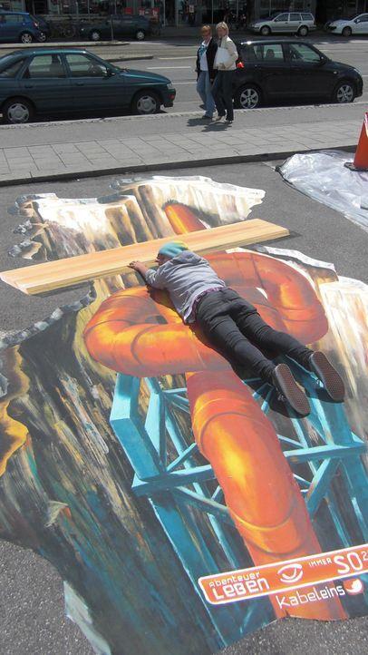 Bilder: Straßenkunst - Abenteuer Leben - Bildquelle: kabeleins